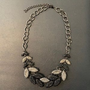 Banana Republic silver & black necklace
